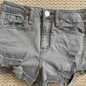 RSQ SUNSET HIGH RISE denim shorts size 1